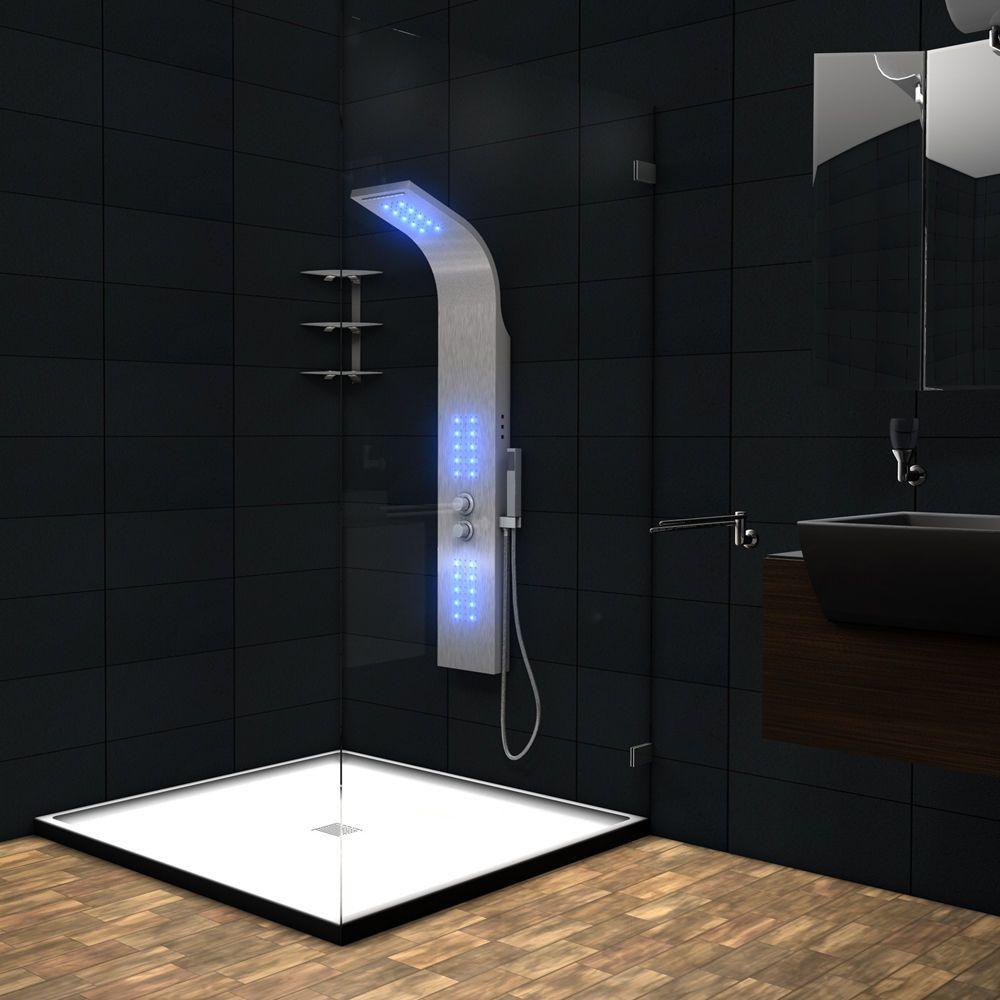 Shower Panel Fitting Rain Shower Shower Fitting Waterfall Shower Column LED  | EBay