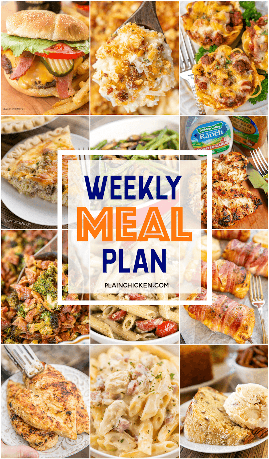 Weekly Meal Plan a quick and easy recipe for every