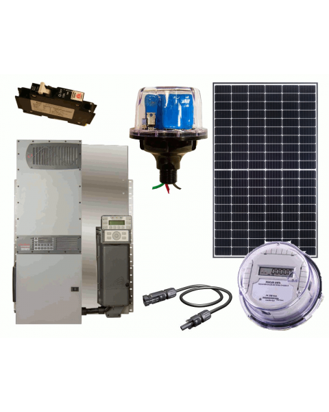 Off Grid Solar Power Kit With 5760 Watts Of Panels And 4000 Watt 48vdc 120 240vac Inverter Charger Solar Kit Off Grid Solar Solar Power Kits