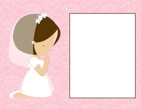 Recordatorio primera comunion para nina primera comunion pinterest communion first - Etiquetas comunion para imprimir en casa gratis ...