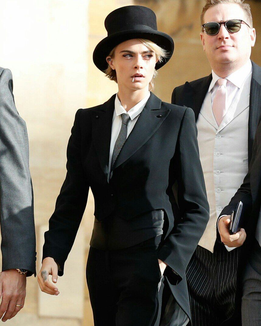09e0963a Cara Delevingne broke the royal wedding code in a chic morning dress and top  hat actresses,actresses beautiful indian,actresses under female,actresses  over ...