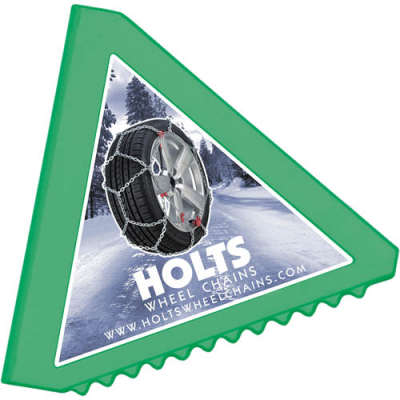 Image of Branded Recycled Ice Scraper. Triangular Shaped Ice Scraper