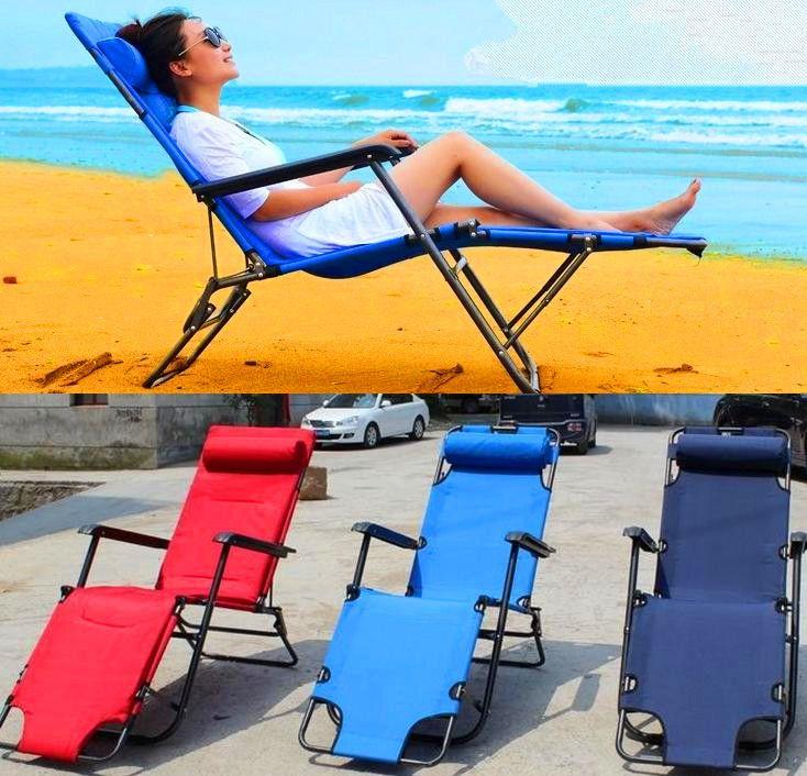 Lightweight Folding Beach Chair Withot Canopy