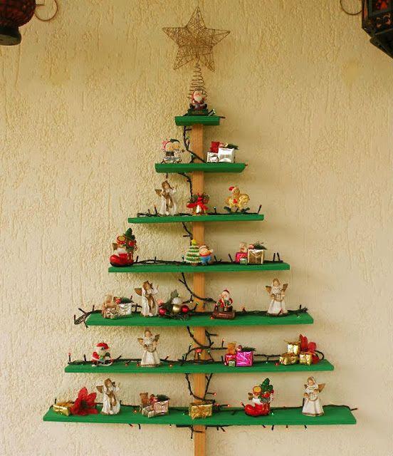 Guache Atelier: Árvore de Natal em madeira   Arte Própria 1   Pinterest