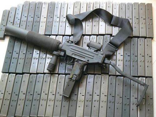 A Micro-UZI with a macro silencer Find our speedloader now ...