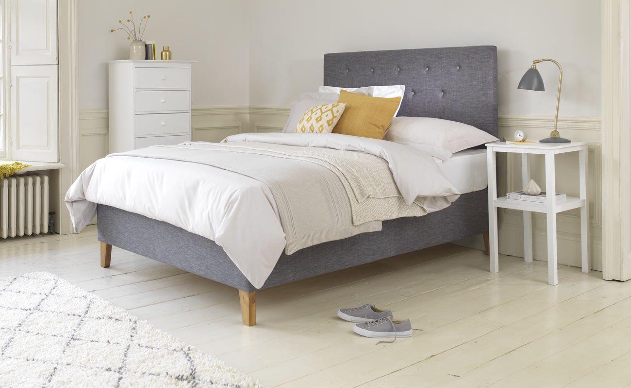 The striking, high headboard and soft padded corners make