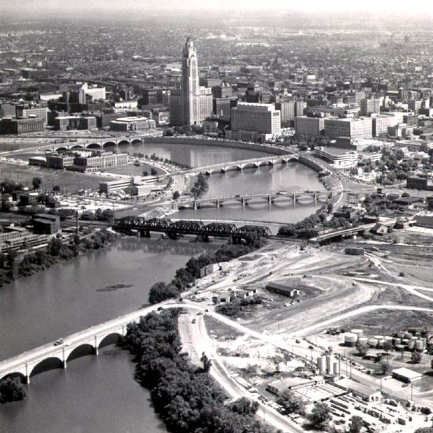 Then And Now Downtown From The Air Trip Columbus Dispatch