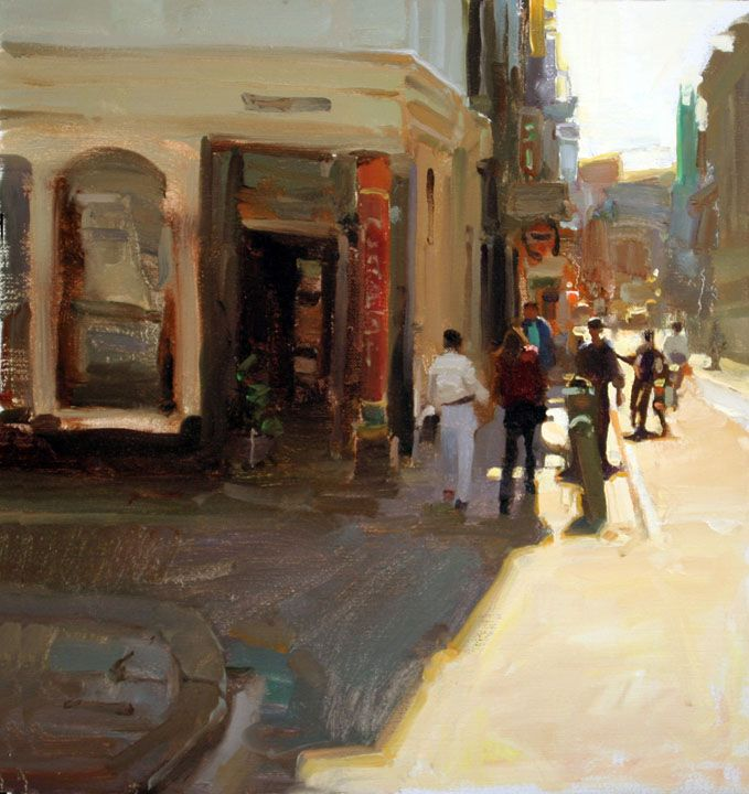 Painting by Kim English: Amsterdam Street                                                                                                                                                                                 More
