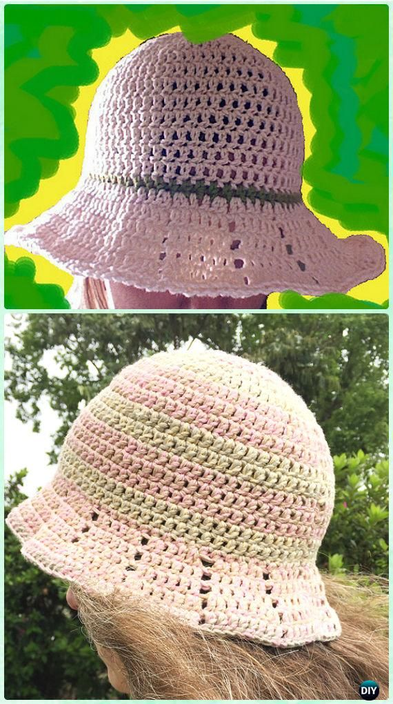 Crochet Easy Fast DC Brimmed Summer Hat Free Pattern - Crochet Adult ...
