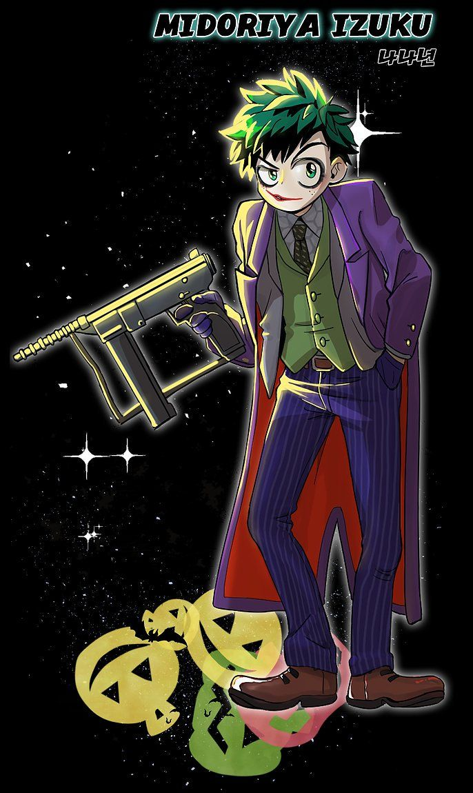crossover Izuku as the Joker | My hero academia manga ...