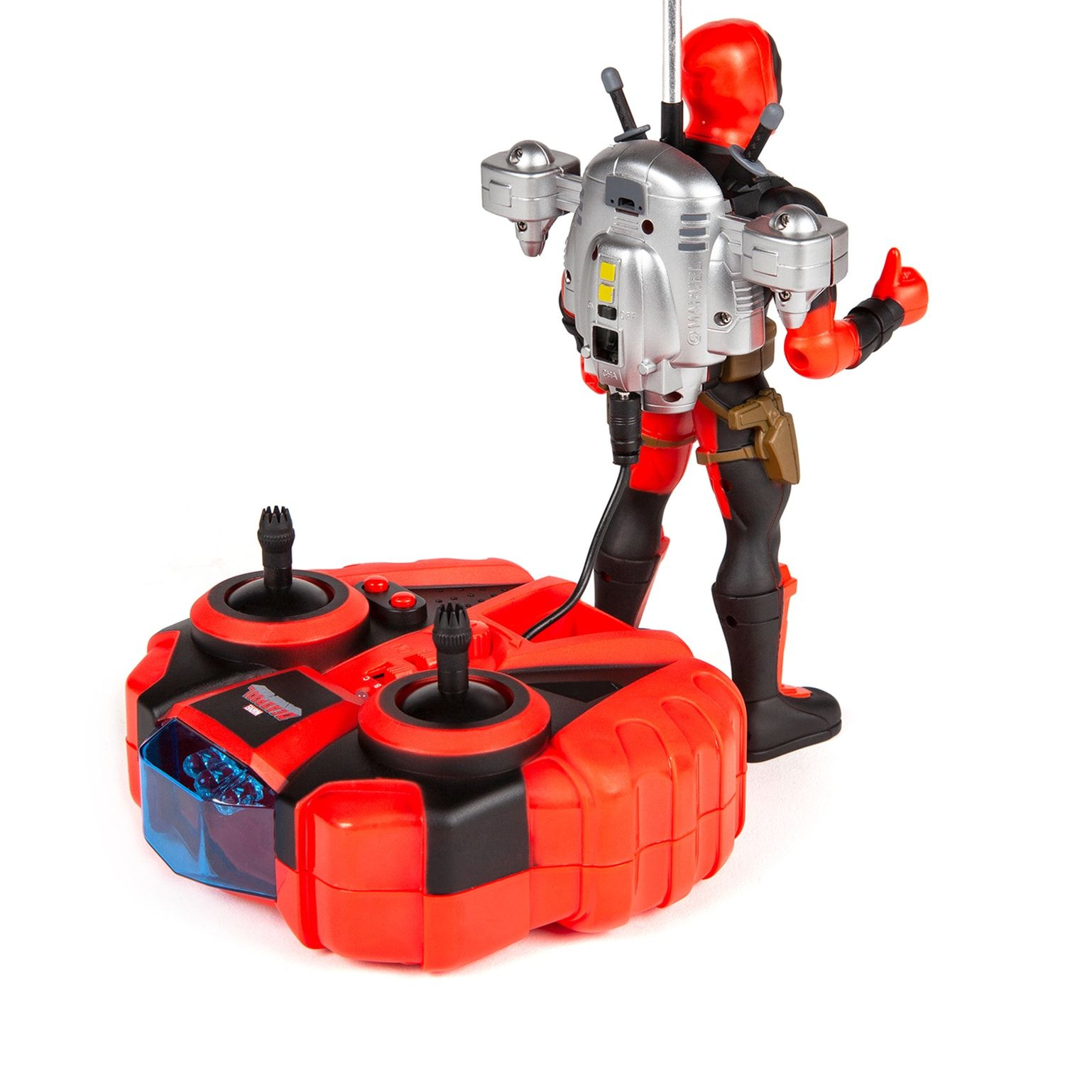World Tech Toys Deadpool Jetpack Flying Figure Helicopter #techtoys