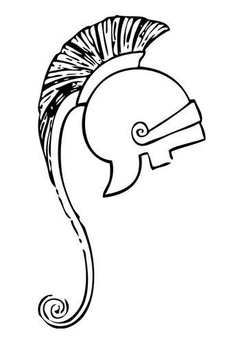 Coloring Page Greek Helmet Img 17410 Troya Arkeoloji