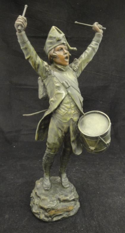 "Moore, Allen & Innocent : AFTER G H TREMO """"Victoire!"""", a patinated spelter : Online Auction Catalogue"