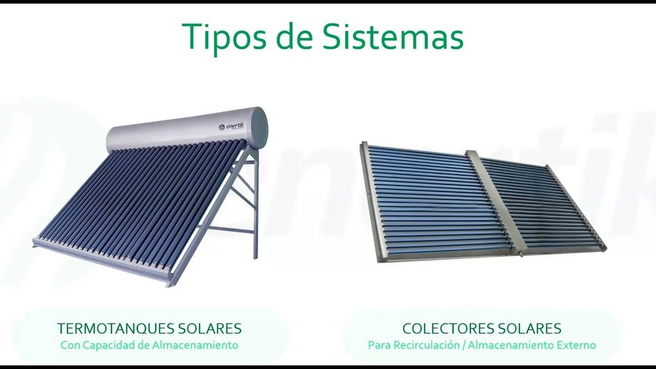 Sistemas Solares Termicos Termotanque Solar Y Colectores Solar Webin En 2020 Colector Solar Sistema Solar Termotanque