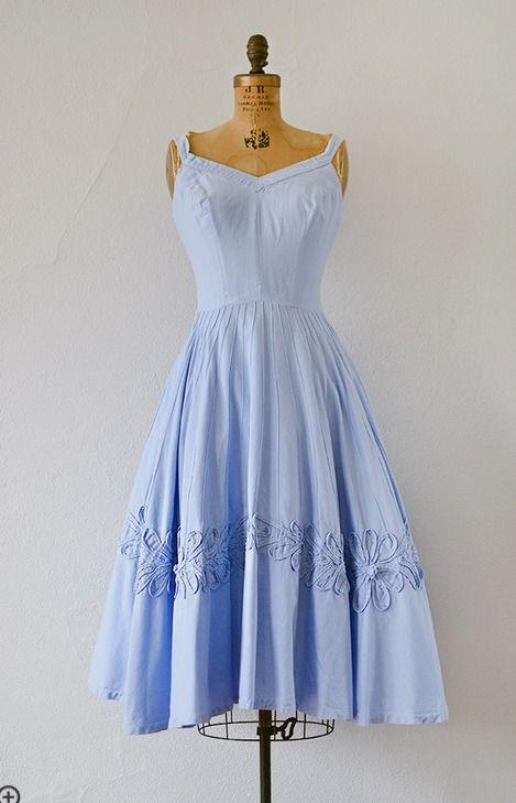 vintage pale blue summer dress | Vintage 1950s dresses