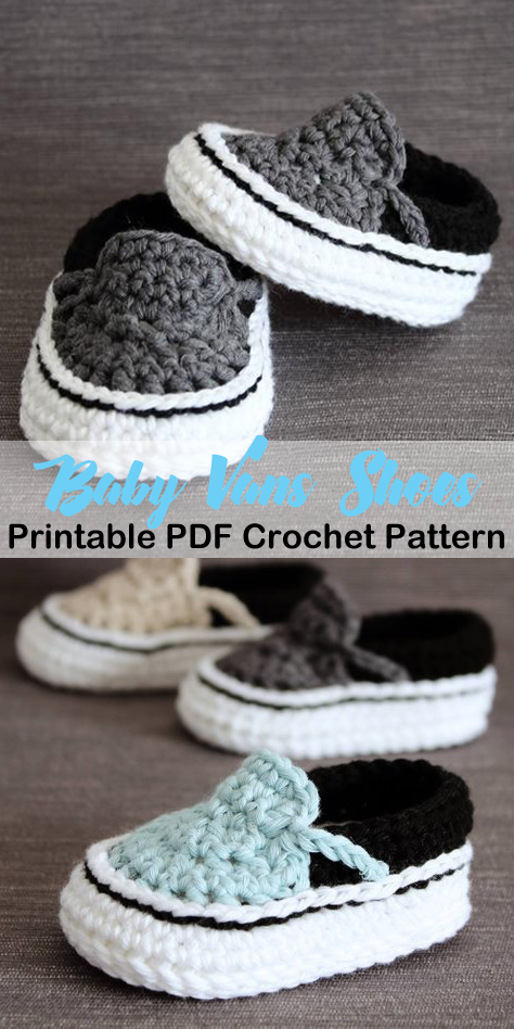 234bff0c7c4c Make this cute shoes for a boy or girl! Baby vans baby shoes crochet  patterns - baby gift - crochet pattern pdf - amorecraftylife.com  crochet   baby ...