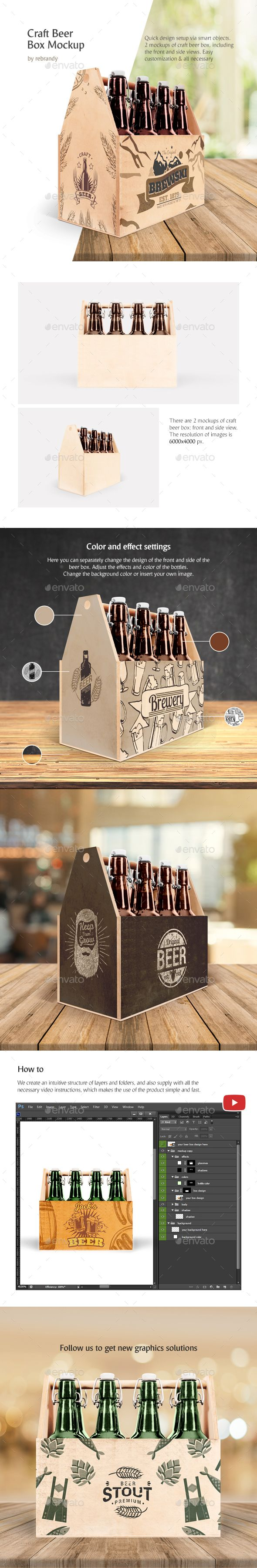 Download Craft Beer Box Mockup | Beer box, Box mockup, Craft beer