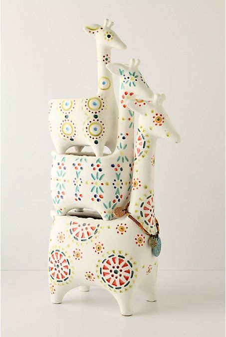 stickers and stuff: Giraffe Pots - Anthropologie