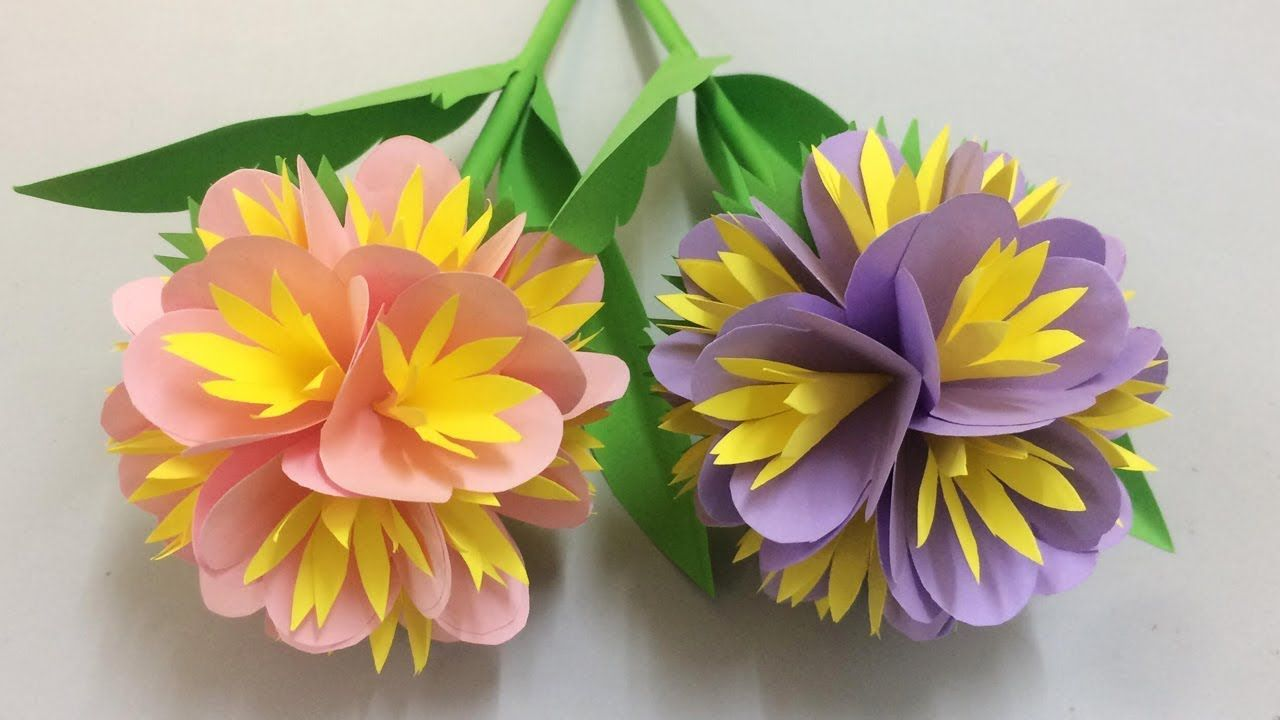 How To Make Beautiful Flower With Paper Making Paper Flowers