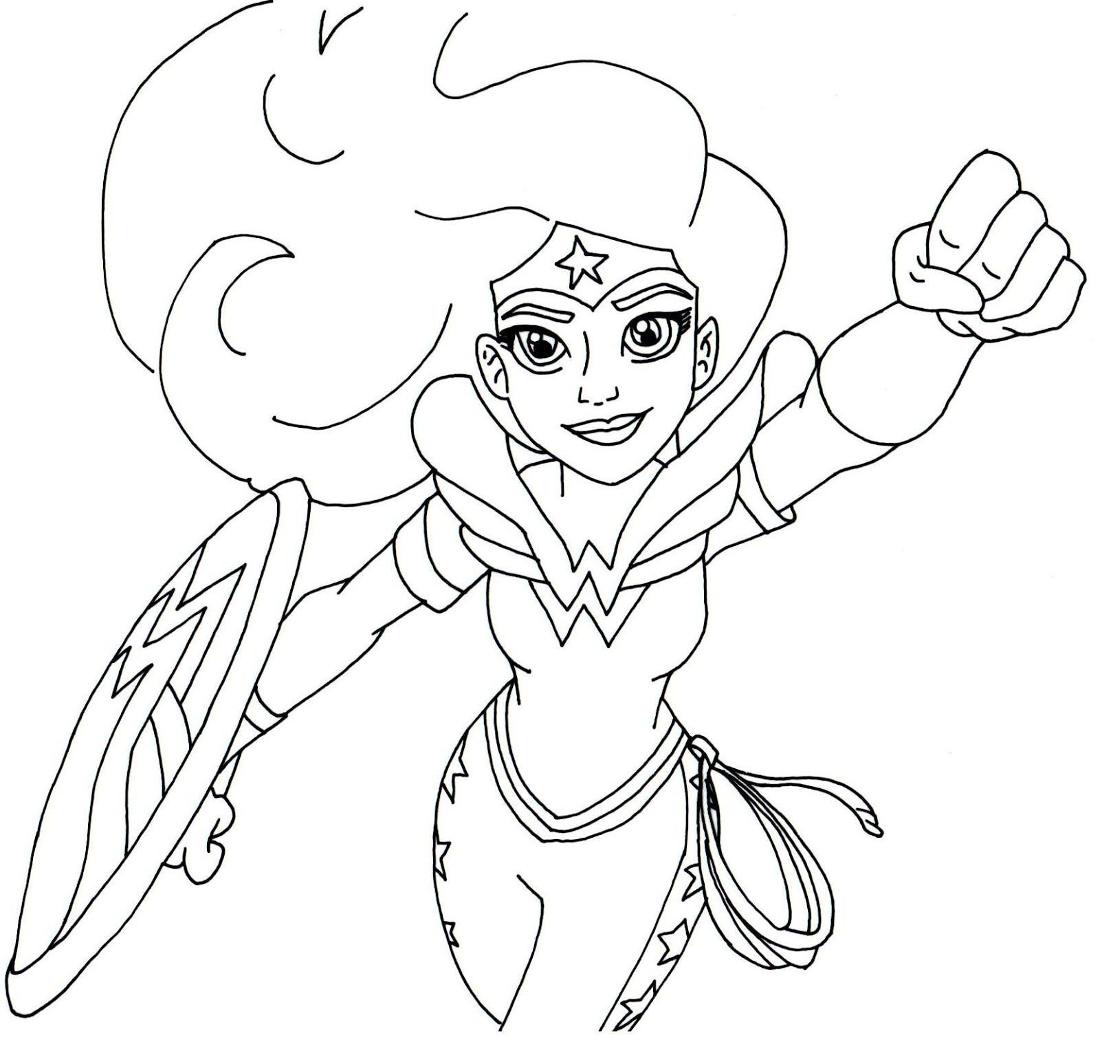 Free printable super hero high coloring page for Wonder Woman More ...
