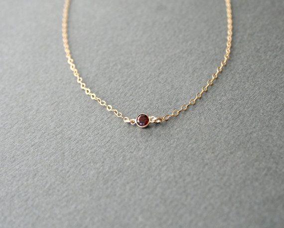 Tiny Garnet necklace