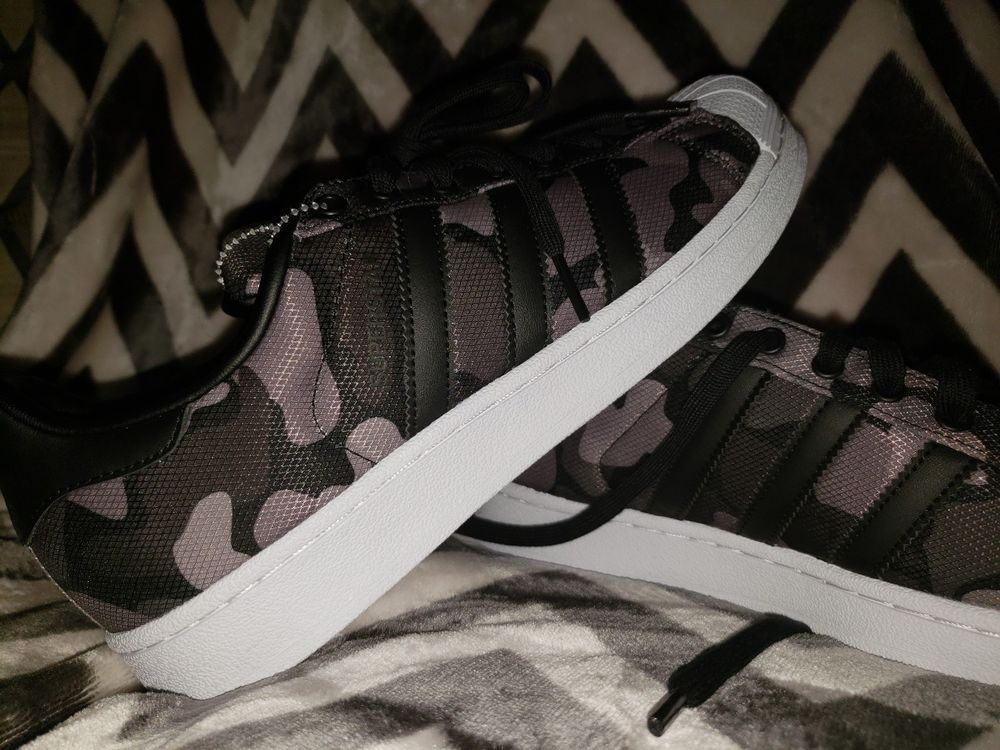 Men's Trainers adidas Superstar Black Grey Camo UK 7.5