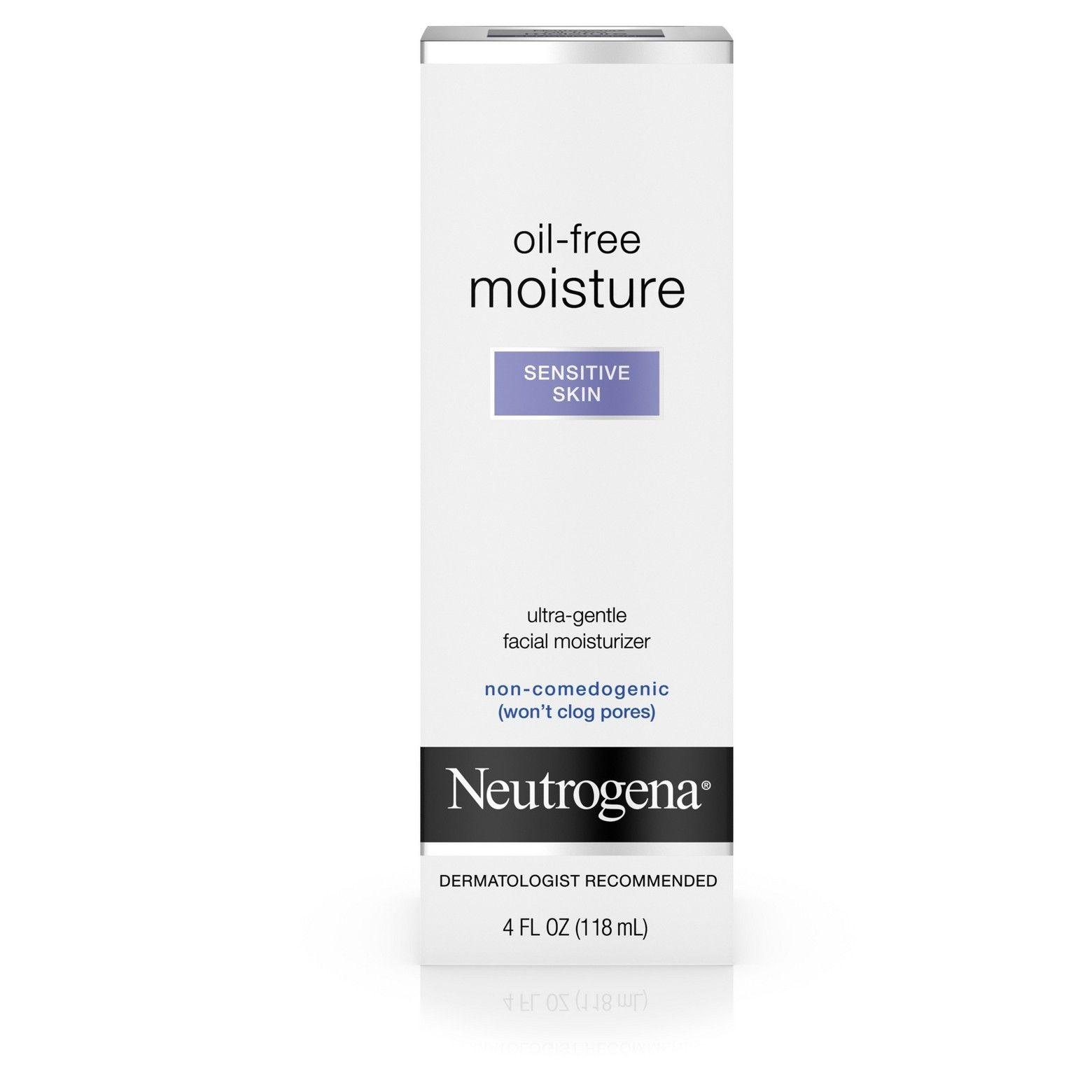 Neutrogena Oil Free Daily Sensitive Skin Face Moisturizer 4 Fl Oz Sensitive Skin Face Moisturizer Moisturizer For Sensitive Skin Sensitive Skin Face