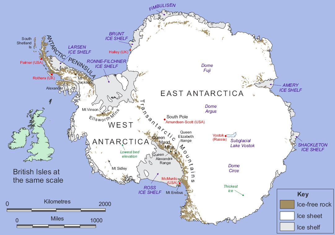 Antartica Figure Map Of Antarctica Image Credit British - Antarctica cities map