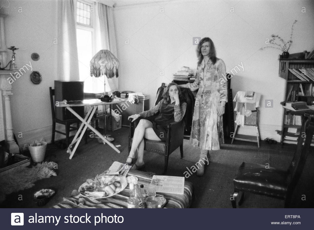 David Bowie And Wife Angie, At Home, Haddon Hall, At Beckenham, Kent Stock…