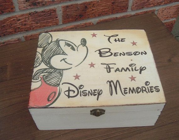 Family Disney Memories Beautiful Personalised Engraved Wooden Box