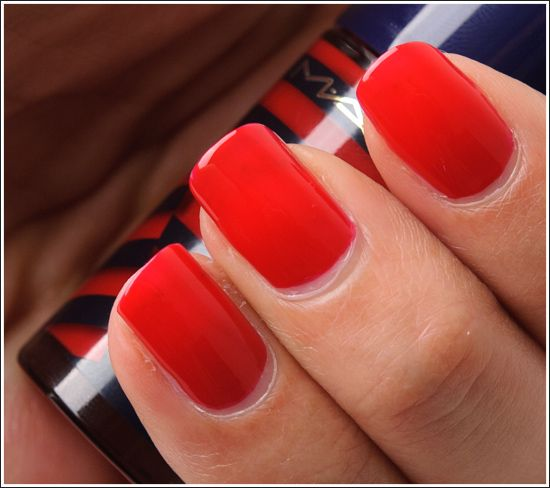 MAC Touch of Red Nail Lacquer Review, Photos, Swatches
