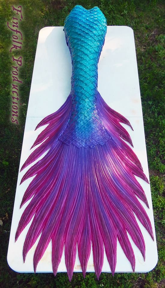 Full silicone mermaid tail made by Finfolk Productions. Betta-fish inspired. 6155b87cfb