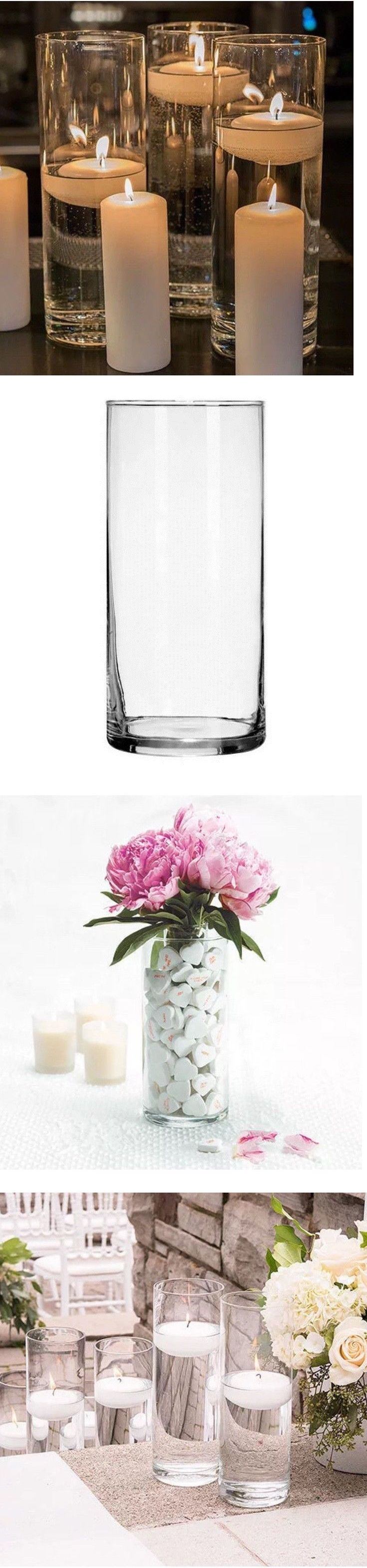 New bulk cylinder vases wedding glass table centerpieces candle