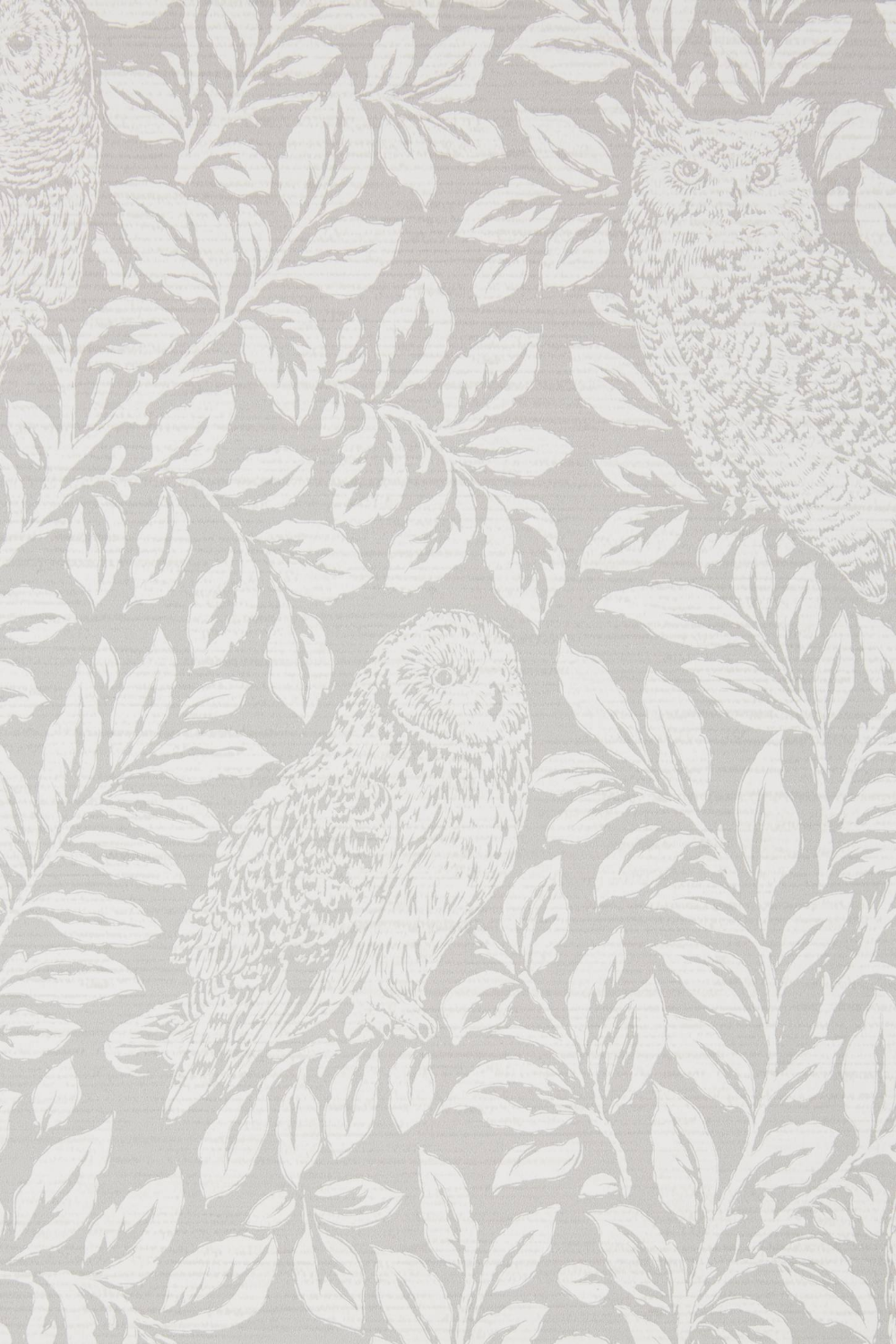 Parliament Owl Wallpaper by Anthropologie in Grey, Wall