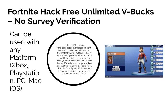 Fortnite V Bucks Generator No Survey Or Human Verification