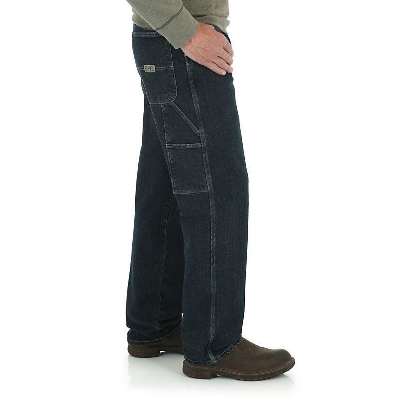 Wrangler Men's Comfort Solutions Series Carpenter Jeans (Size: 42 x 32) Dark Blue