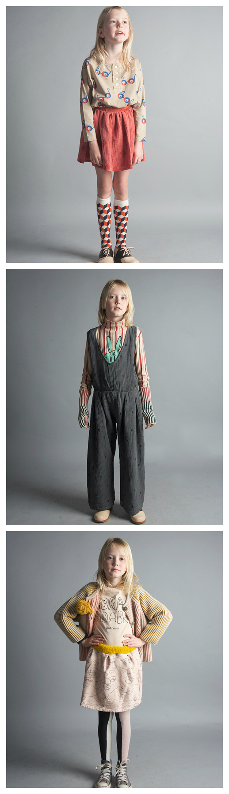 Autumn-Winter 2016, How to Disappear, Bobo Choses - Comfortable, fun clothes for girls