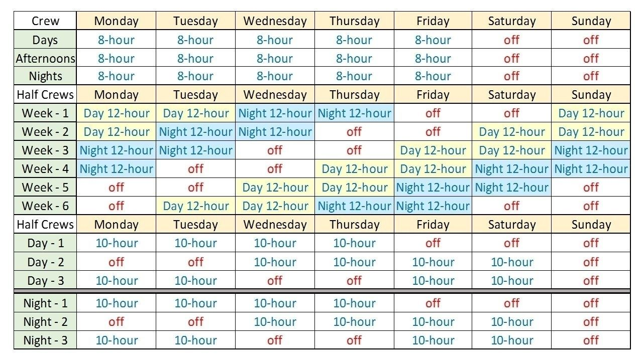 Free 12 Hour Shift Templates Shift Schedule Schedule Templates Schedule Template 12 hour shift schedule template
