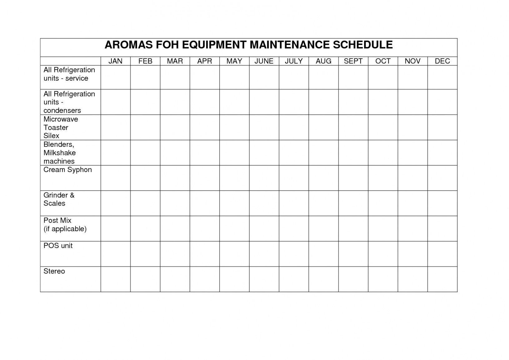 Heavy Equipment Maintenance Edule Template Printable Heavy Equipment Maintenance Log Template Maintenance Checklist Maintenance Heavy Equipment Heavy equipment maintenance log template