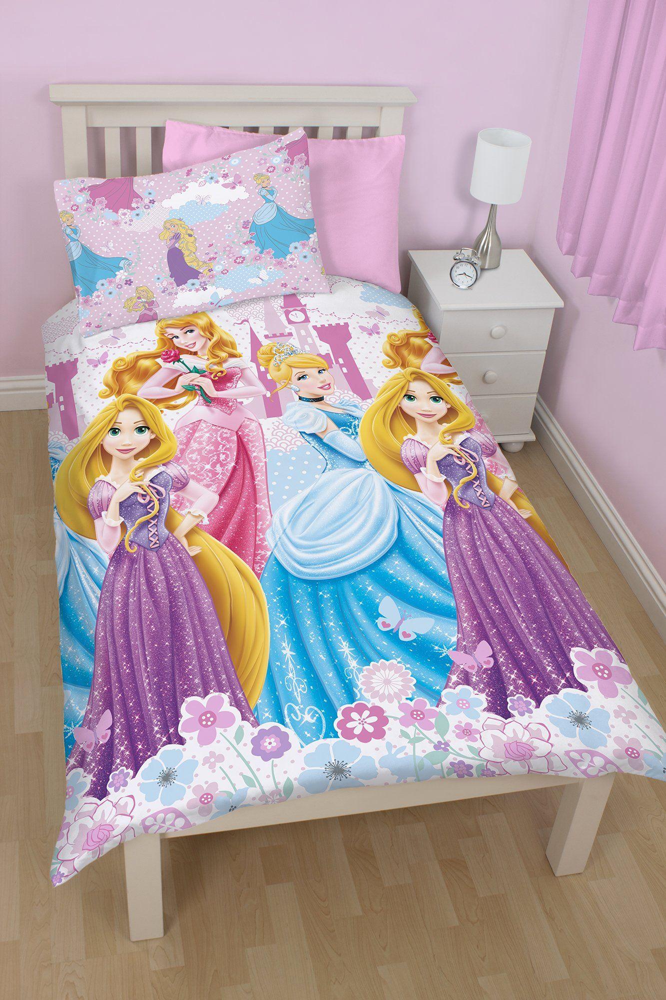 Parure de lit princesses disney housse de couette lit 1 - Tour de lit princesse disney ...
