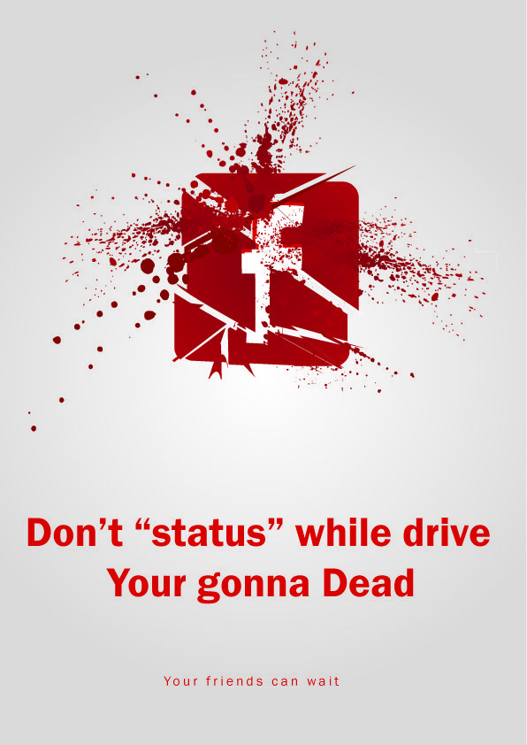 drive safety campgn Social awareness posters, Distracted