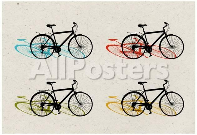 Beach Bike Pop Art by Laura Denardo Transportation Poster - 48 x 33 ...