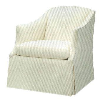 Lee Industries   Kravet   Skirted Club Chair
