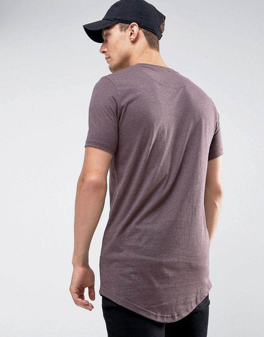 192f7e3c8aa Le Breve Logline Curved Hem Marl T-Shirt - Purple
