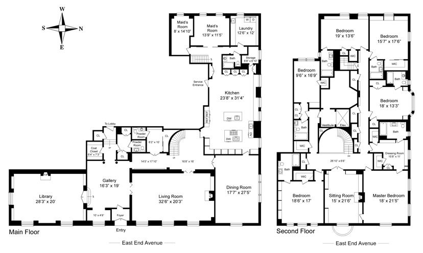 Apartment OR Flat Condo Seven Bedrooms Plan