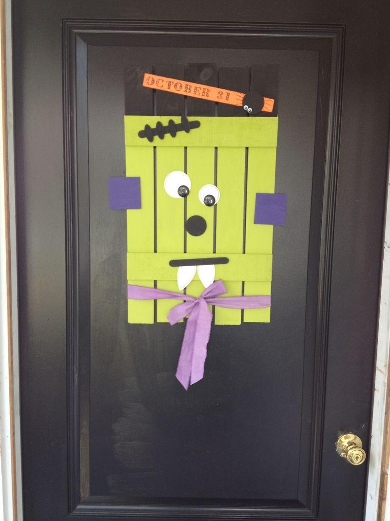Halloween Door decor completed home Pinterest - pinterest halloween door decor