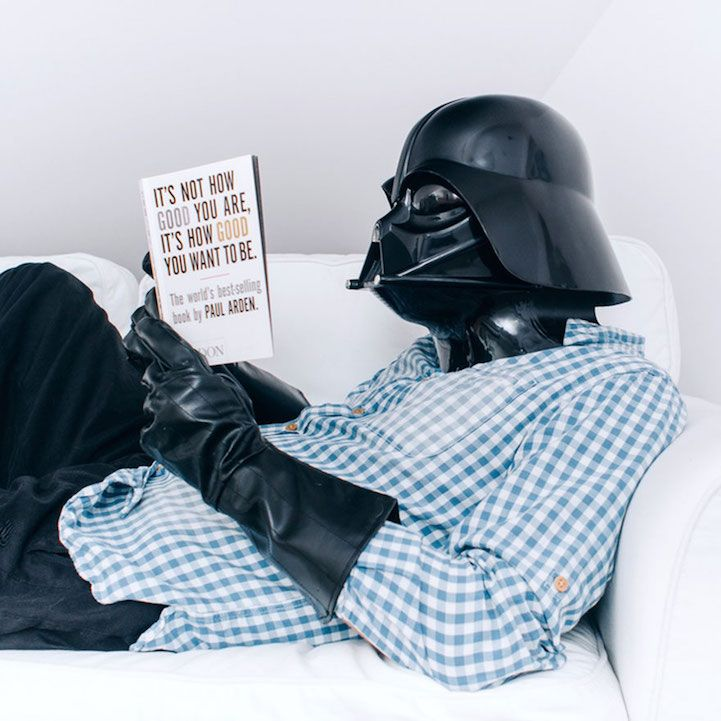 Polish photographer Pawel Kadysz imagines that Darth Vader is more like us than we might realize. In his series of selfies called Daily Life of Darth Vader, Kadysz shows that the infamous Sith Lord performs many of the same relatable and mundane tasks that we do, such as food shopping and cleaning the house. Sometimes, he likes to enjoy the great outdoors, too. The only difference? He wears an imposing mask. Kadysz has thought beyond Vader's initial persona and portrayed him as just a normal…