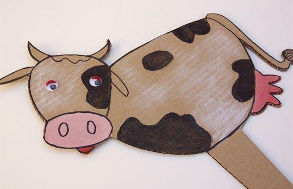 Vaca de cartón