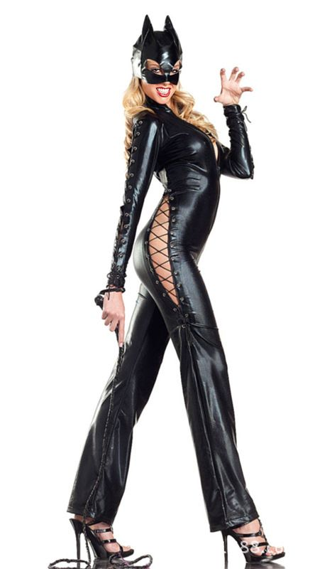 aeProductgetSubject() flared jeans Pinterest Latex catsuit - last minute halloween costume ideas for women