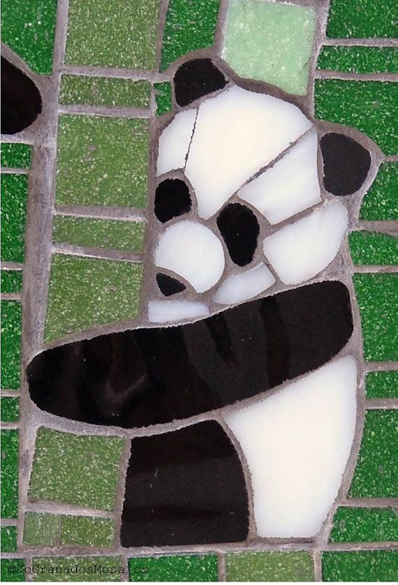 19b5374d302 This is a one of a kind mosaic designed for Panda lovers. I wanted to